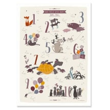 -Lovingly illustrated number poster with animals-20