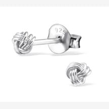 -Delicate earrings knot made of 925 sterling silver-21