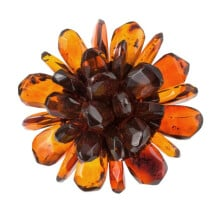 "-Amber Flower Ring ""Gracia""-21"