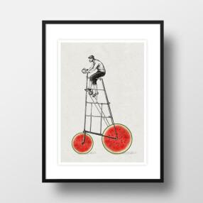"""-A4 Artprint """"Melon cyclists""""-20"""
