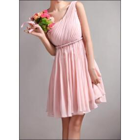 -Greek one-shoulder chiffon wedding dress-20