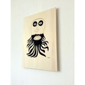 -Ray Moore Beardy silkscreen print on poplar plywood-20