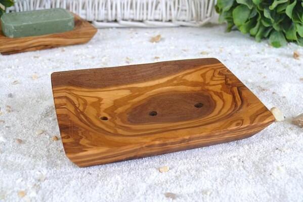 Soap dishes made of olive wood - handmade | Grinskram - Green Home Market