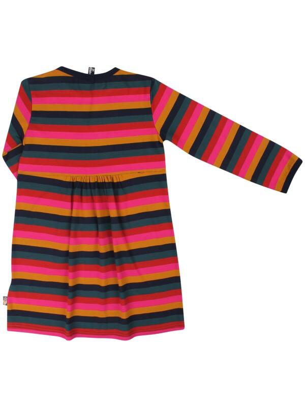 Danefae striped Nanna dress with Freja in gold | IsaDisaKids