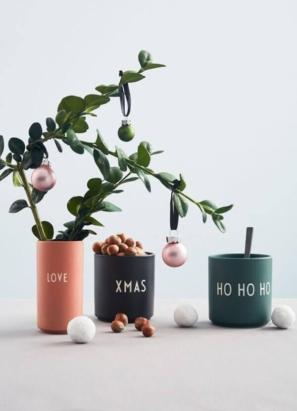 Design Letters Green Ho Ho Ho favorite mug | Papperlapapp