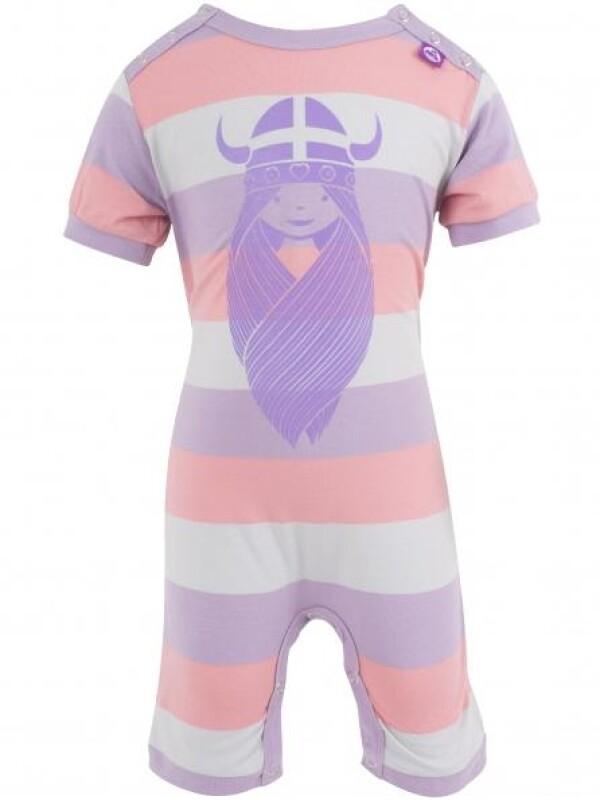 Danefae Pink Striped Scrambler Suit with Freja   IsaDisaKids