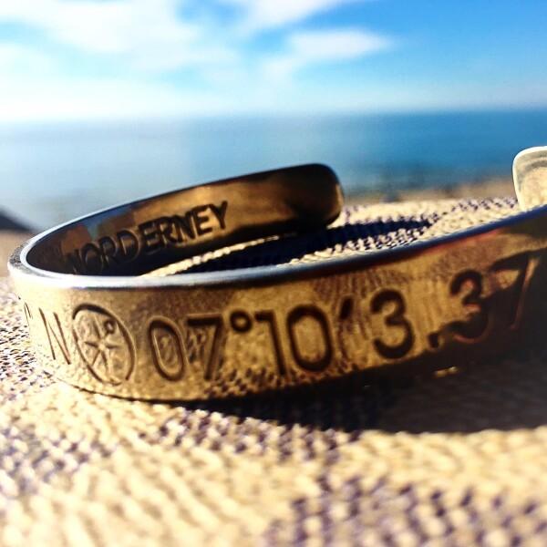NORDERNEY Coordinate Arm Bracelets Ladies rose gold plated | ANCRAGE