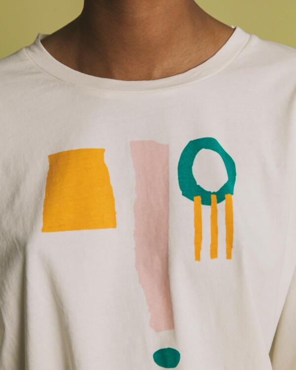 Thinking MU Face T-Shirt white | Plane-tick