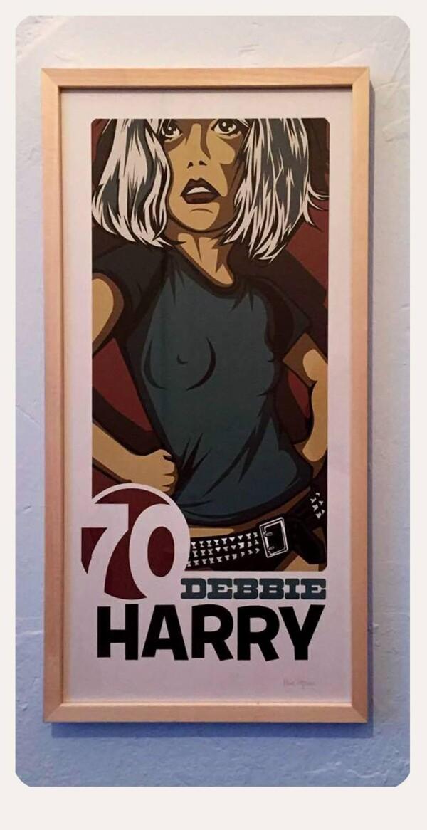 Debbie Harry Print 30 x 60 cm | Großmanns WhiteTrashWonderland