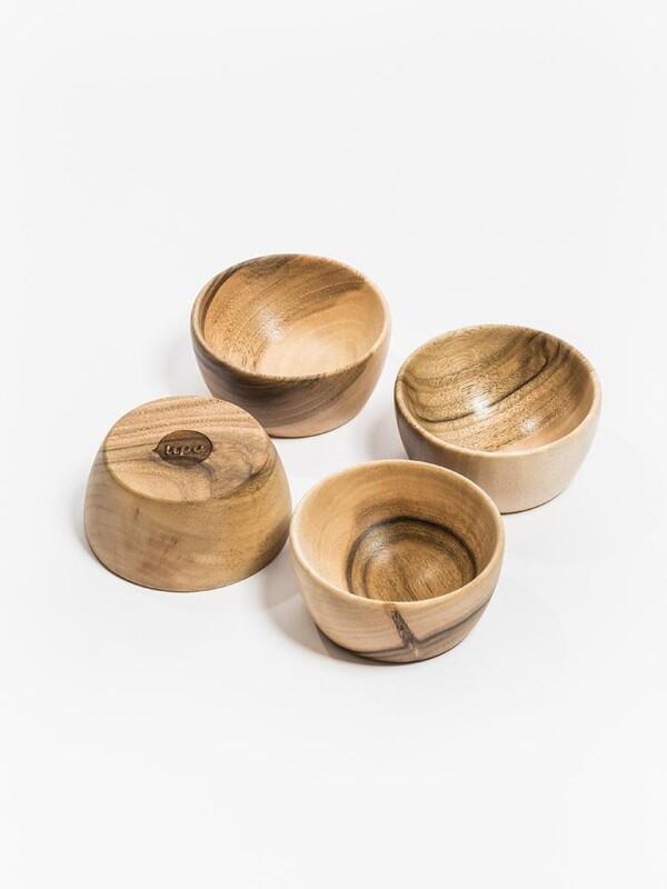 Set of 4 wooden bowls from walnut wood   Lipa store