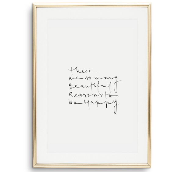 Tales by Jen Art Print: There are so many beautiful reasons to be happy   Tales by Jen