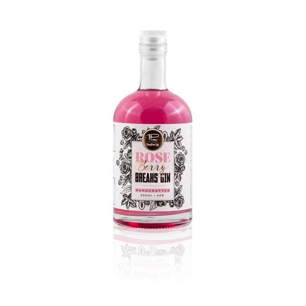 Set of 6 Breaks Rose Berry Gin Handcrafted Bottle 500ml   Breaks Gin Manufaktur