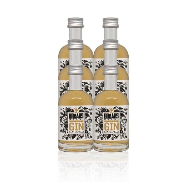6x Little Reserve Dry Gin handcrafted bottle 50ml | Breaks Gin Manufaktur