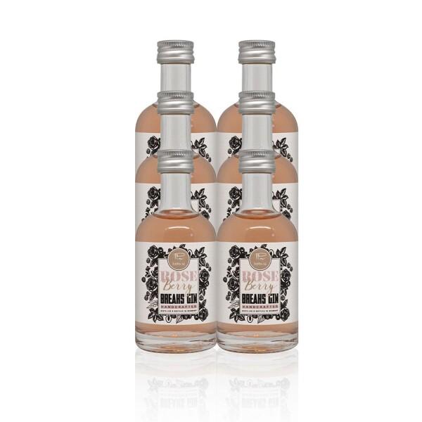 6x Little Rose Berry Gin handmade bottle 50ml | Breaks Gin Manufaktur