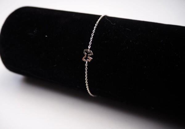 Bracelet with small loop sterling silver | Perlenmarkt