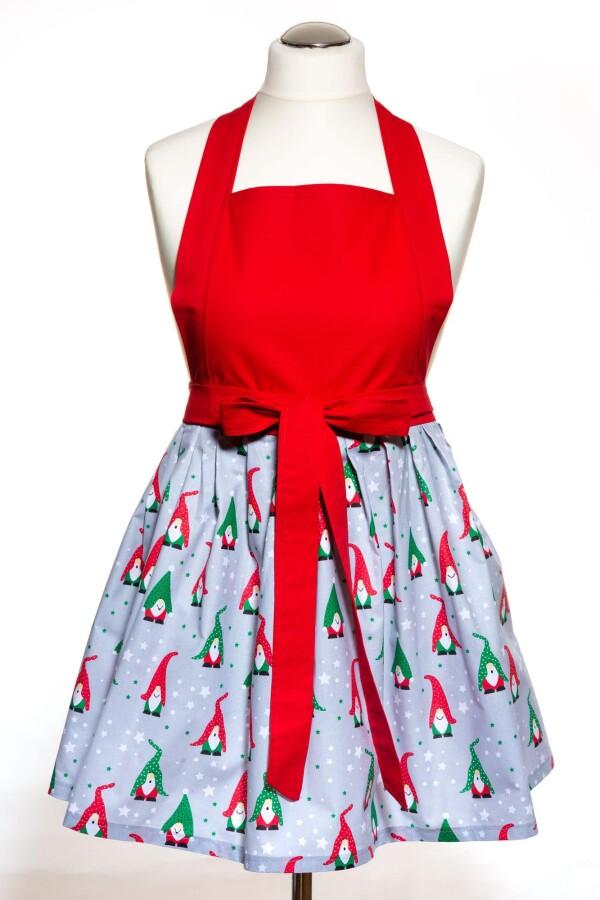 Kitchen Apron Cooking Apron Christmas Gift Gnome Handmade | Sylodesign