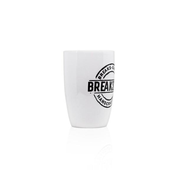 Breaks Gin White mug with embossing | Breaks Gin Manufaktur