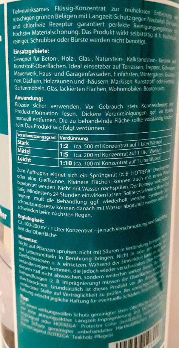 Green film remover HOTREGA®   Haack am Markt