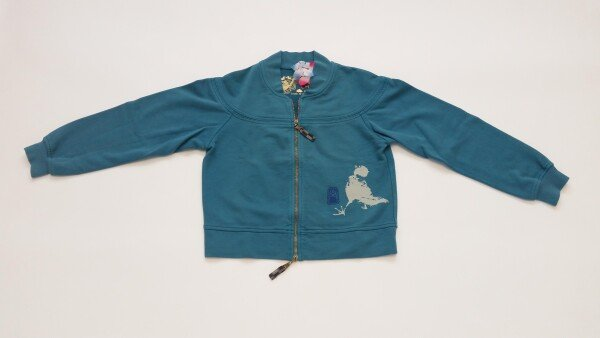 Chakura Hoodless Turquois Sumie bird by Ku Ambiance | Ku Ambiance