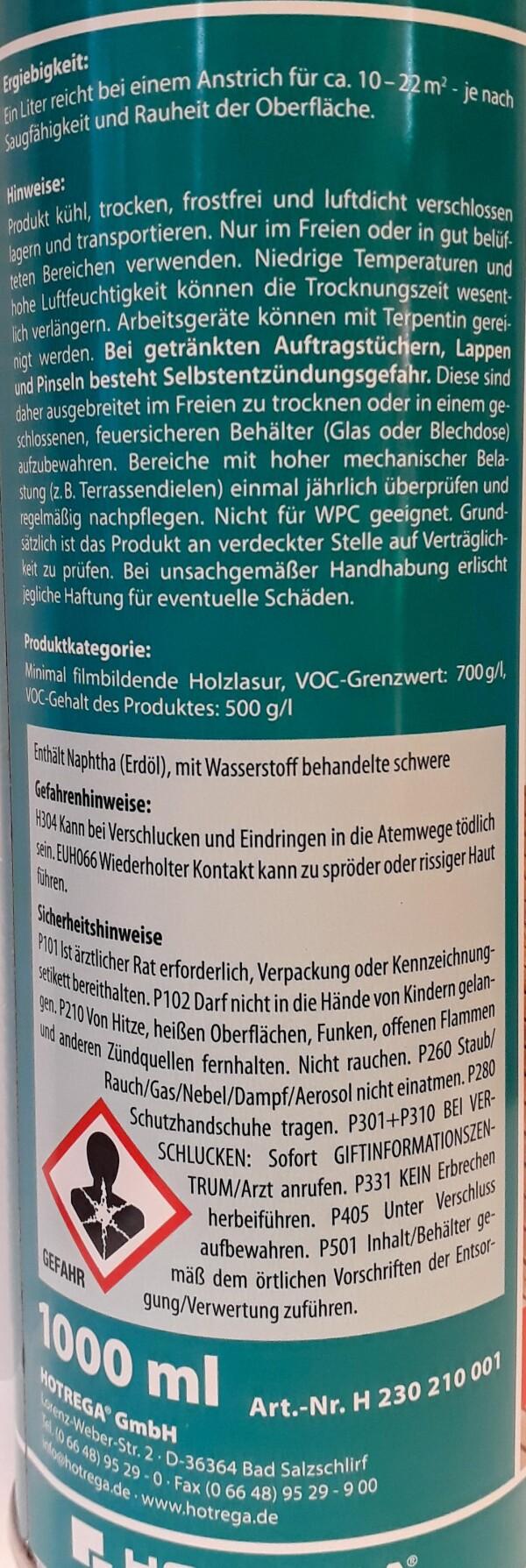 HOTREGA® teak and hardwood care oil | Haack am Markt