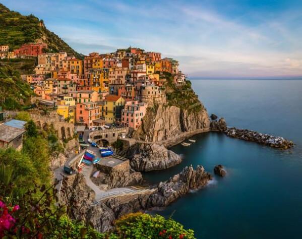 Liguria - Manarola in the evening by Jean Claude Castor | Photocircle