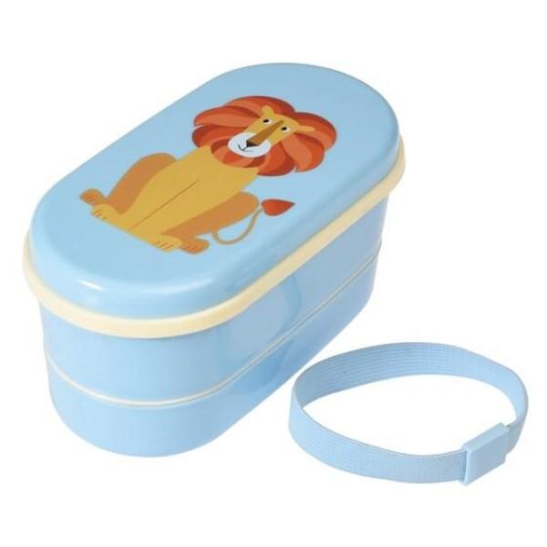 LUNCH BOX BENTO-BOX LION REX lunch box | WohnGlanzVilla