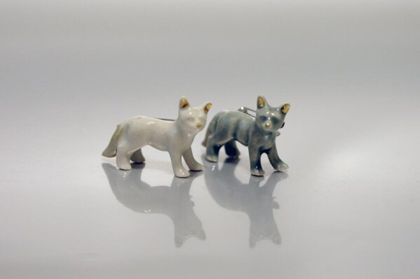 Porcelain Brooch Fox Minka | FashionShop PARAZIT