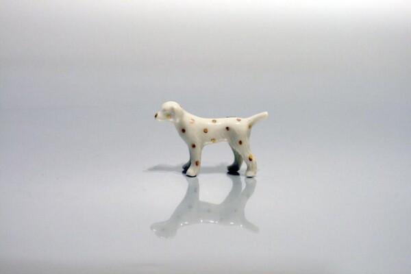 Porcelain Brooch Dog Minka | FashionShop PARAZIT