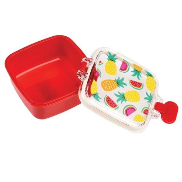 TROPICAL FRUIT MINI SNACK POT tin box REX | WohnGlanzVilla