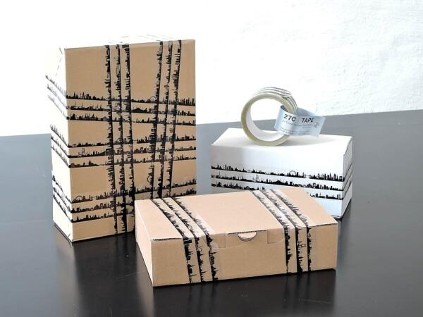 Geschenkband 27C Gift Tape - Klebe-Dekoband mit 27 Skylines von A-Z weltweit   44spaces