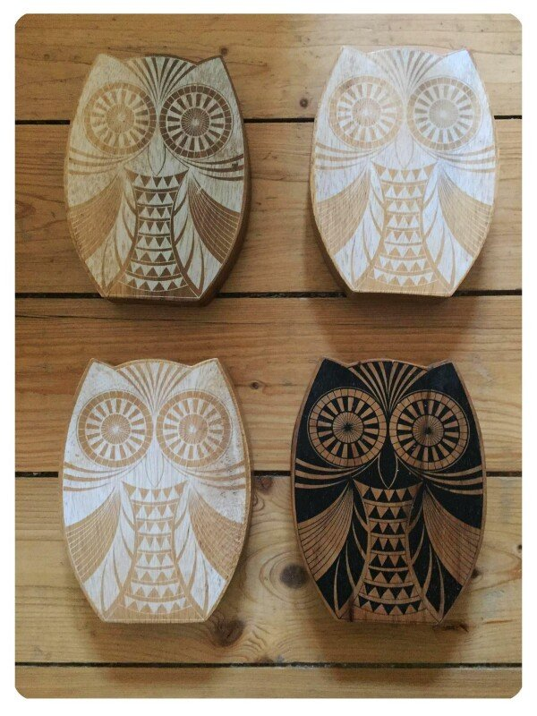 Wooden owl decoration   Großmanns WhiteTrashWonderland
