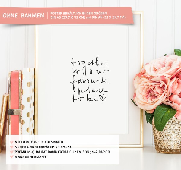 Tales by Jen Art Print: Together is our favorite place to be | Tales by Jen