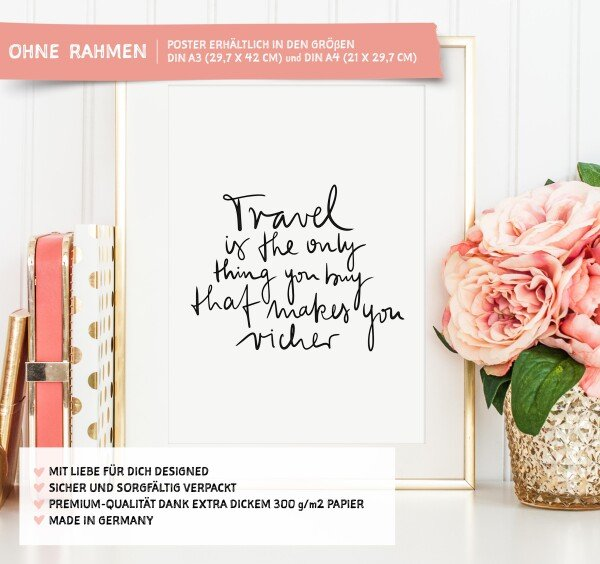 Tales by Jen Art Print: Travel is the only thing you can buy that makes you richer | Tales by Jen