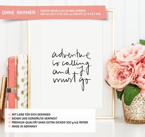Tales by Jen Art Print: Adventure is calling and I must go | Tales by Jen