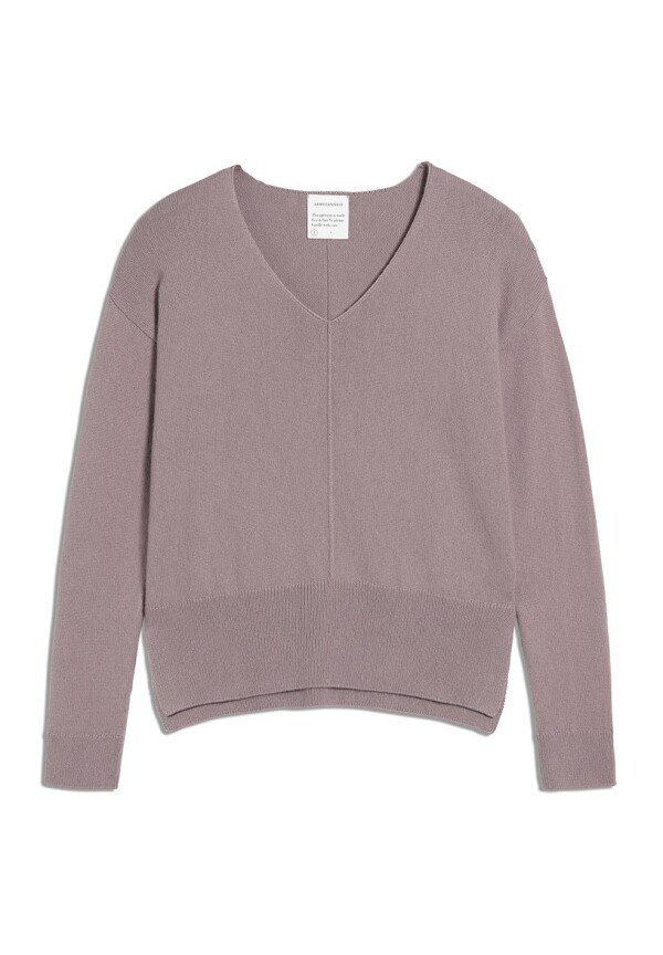 Armedangels knit sweater OLGAA pale mauve | Plane-tick