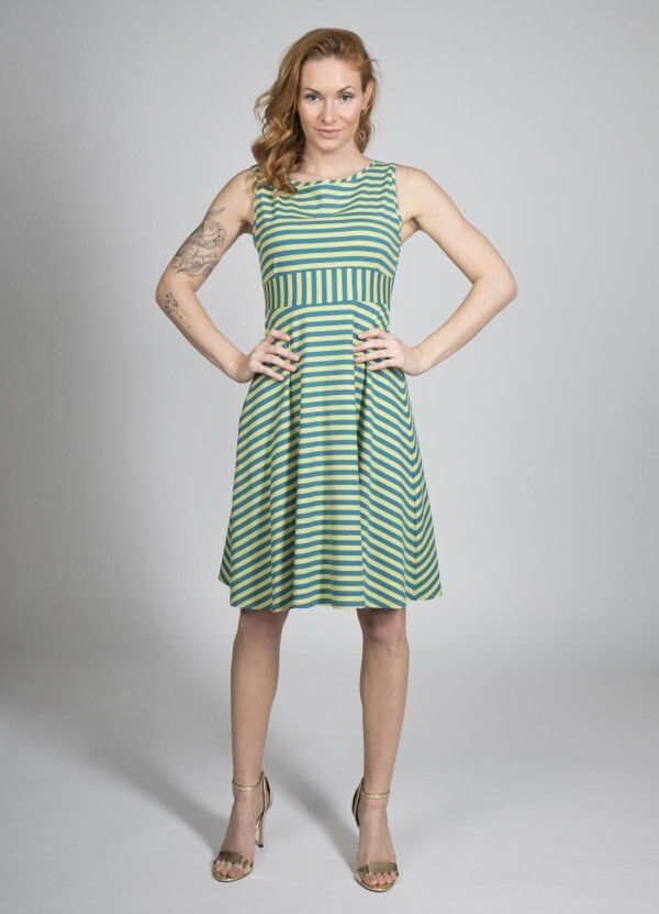 Dress Smilla   kirsch-grün