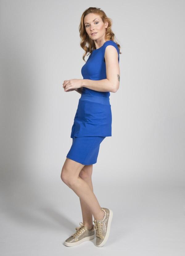 Stretch dress Aurea - cherry green | kirsch-grün