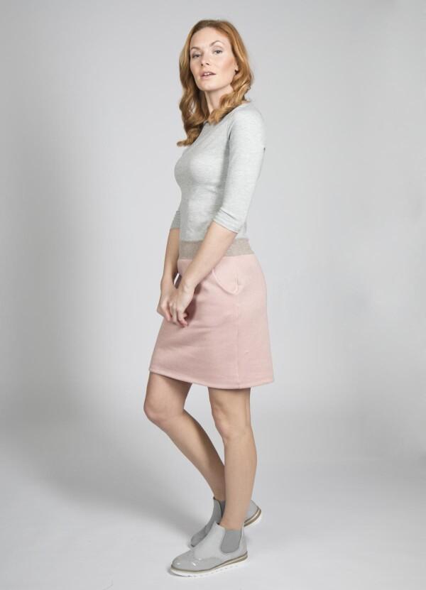 Dress Juna with slight glitter in the skirt | kirsch-grün