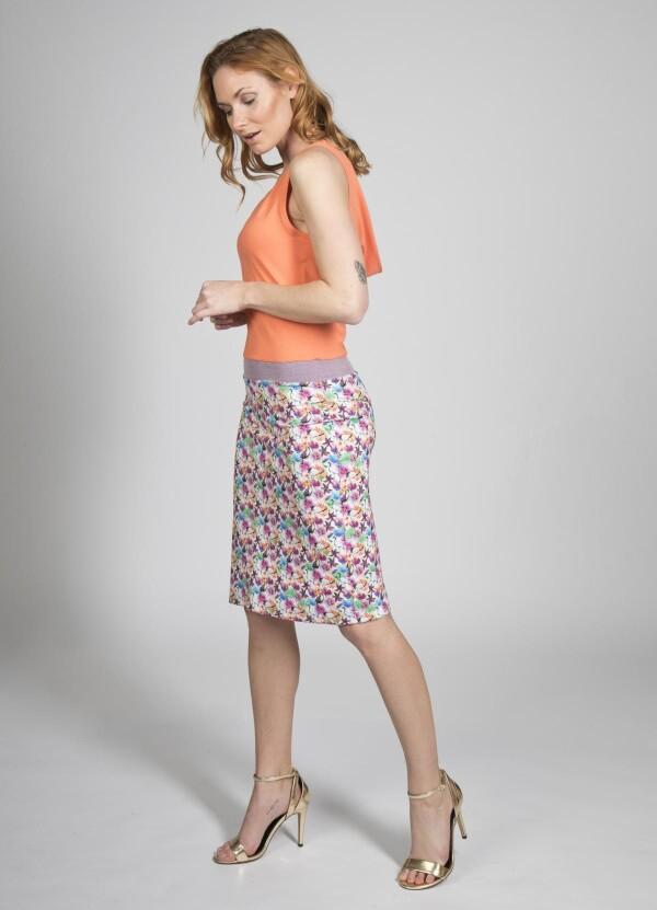 Dress Alexa in living coral   kirsch-grün