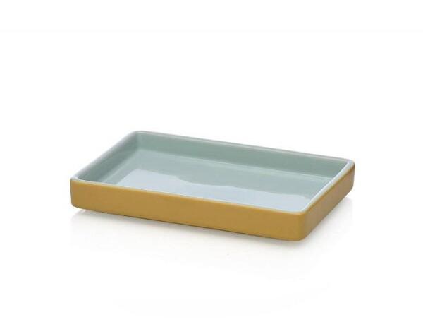 Ichendorf Milano ARCIPELAGO stoneware 21x15x3cm bowl light blue / amber | CPS_concept store