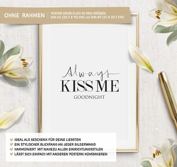 Tales by Jen Art Print: Always kiss me goodnight | Tales by Jen
