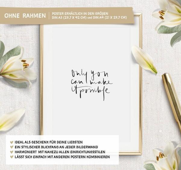 Tales by Jen Art Print: Only you can make it possible | Tales by Jen