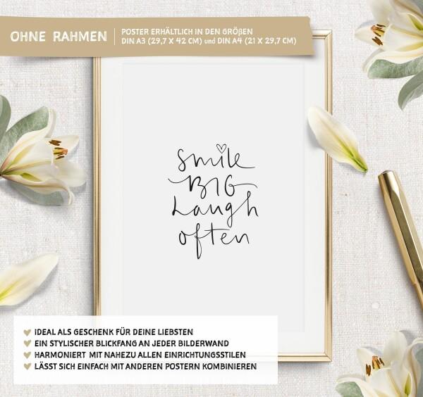 Tales by Jen Art Print: Smile big laugh often | Tales by Jen