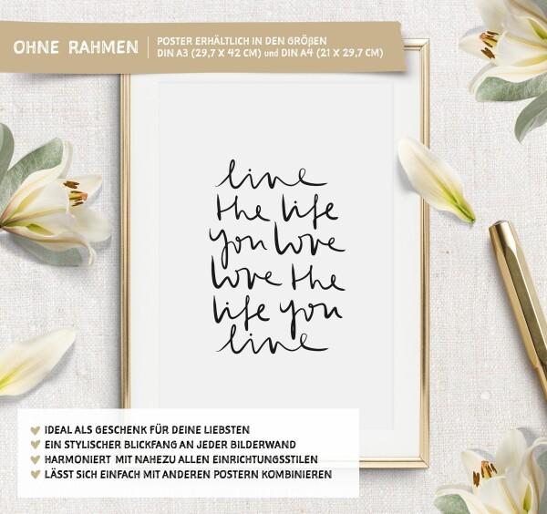Tales by Jen Art Print: Live the life you love | Tales by Jen