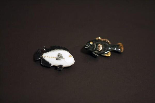 Porcelain Brooch Fish Minka | FashionShop PARAZIT