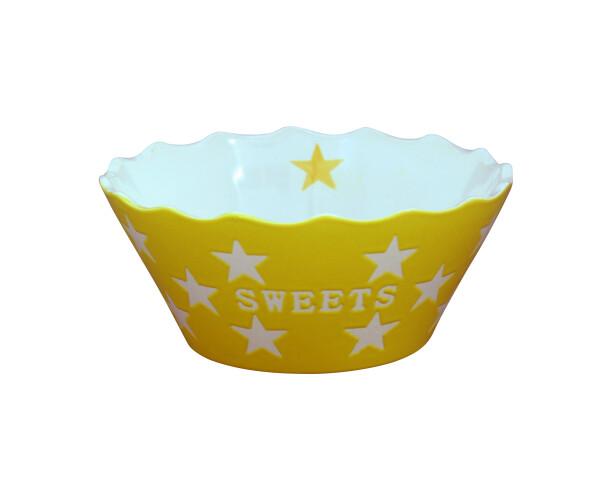 Krasilnikoff Bowl SWEETS Star YELLOW   WohnGlanzVilla