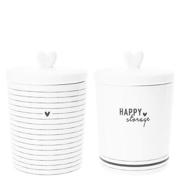 Bastion Collections small storage jar with heart cover | Ambiente lifestyle & deko
