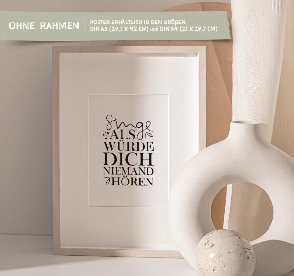 Tales by Jen Art Print: Sing as if nobody would hear you | Tales by Jen