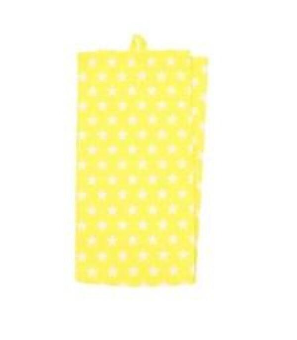 Tea Towel Small Star YELLOW Towel   WohnGlanzVilla