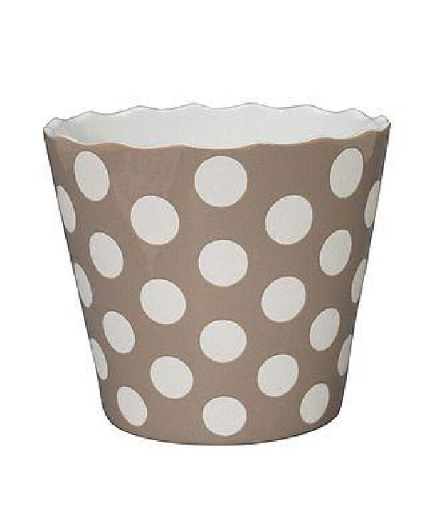 LARGE HAPPY BOWL TAUPE WITH DOTS | WohnGlanzVilla